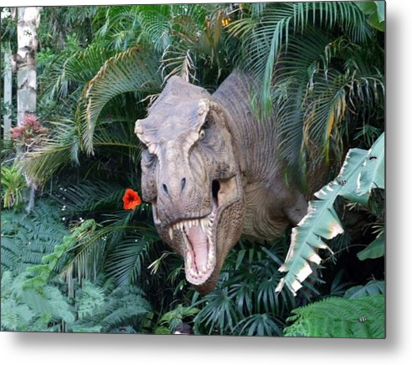 The Dinosaurs Lunch Metal Print by Rana Adamchick