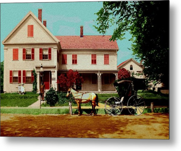 The Doctor Heads Out On A House Call Metal Print