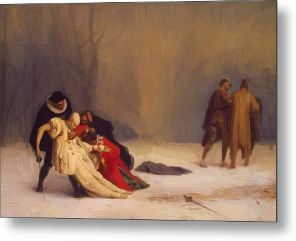 The Duel After The Masquerade Metal Print