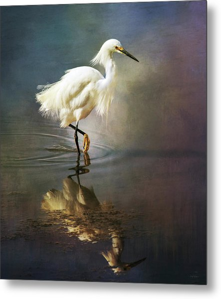 The Ethereal Egret Metal Print