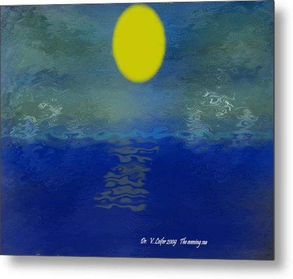The Evening Sea Metal Print by Dr Loifer Vladimir