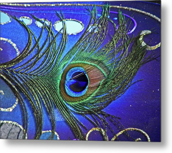 The Eye Of The Peacock Metal Print