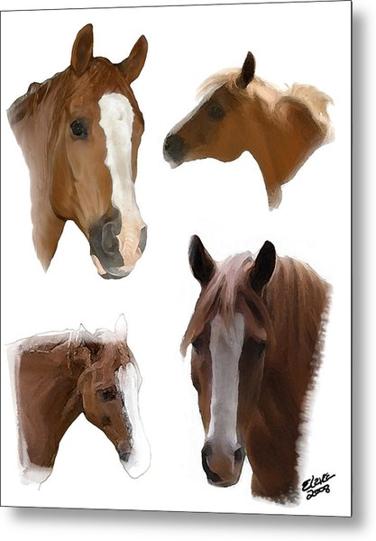 The Faces Of T Metal Print by Elzire S