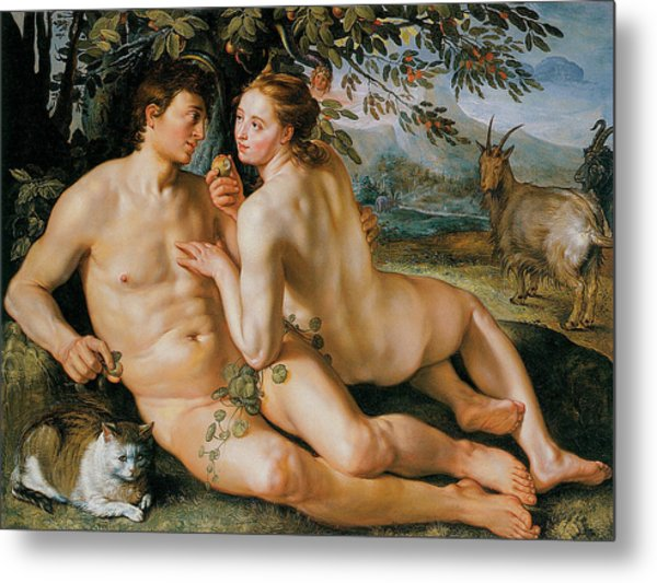 The Fall Of Man Metal Print by Hendrik Goldzius