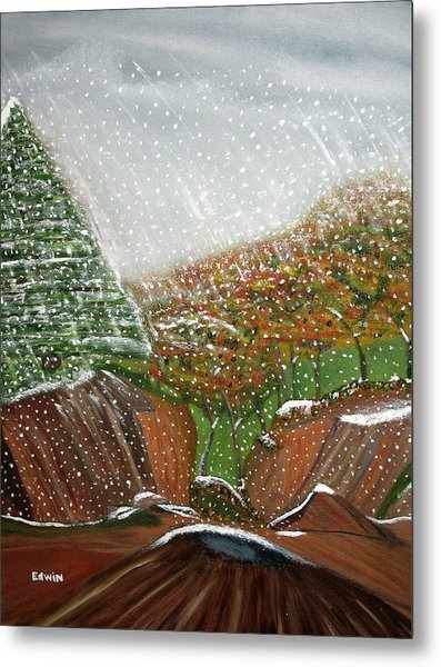 The First Snow Metal Print by Edwin Long