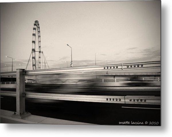 The Flyer Metal Print by Susette Lacsina