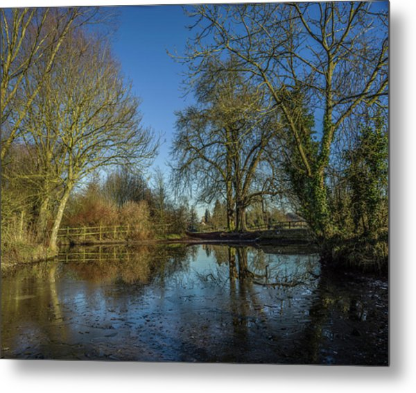 The Ford At The Street Metal Print