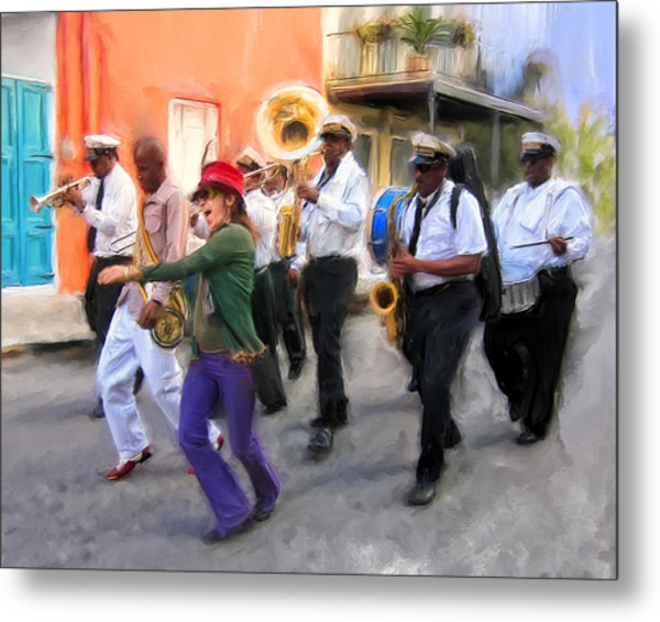 The French Quarter Shuffle Metal Print