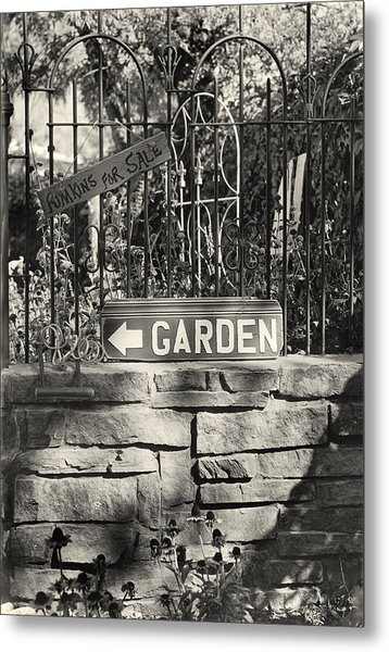 The Garden Gate Metal Print by Jim Furrer