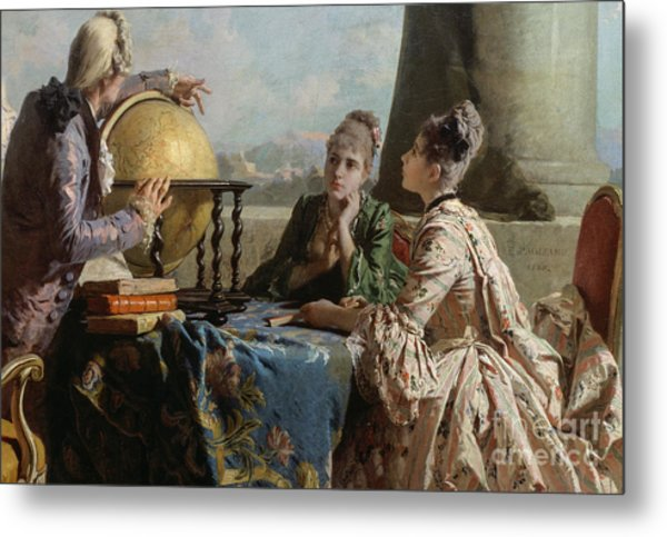 The Geography Lesson, 1880 Metal Print
