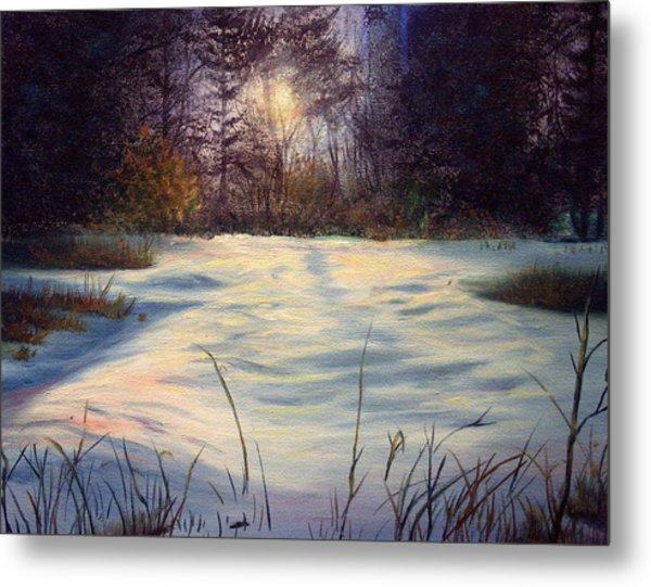 The Glow Of Winter Metal Print by Tommy  Winn