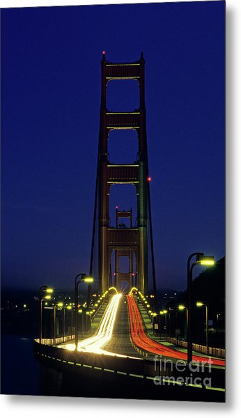 The Golden Gate Bridge Twilight Metal Print