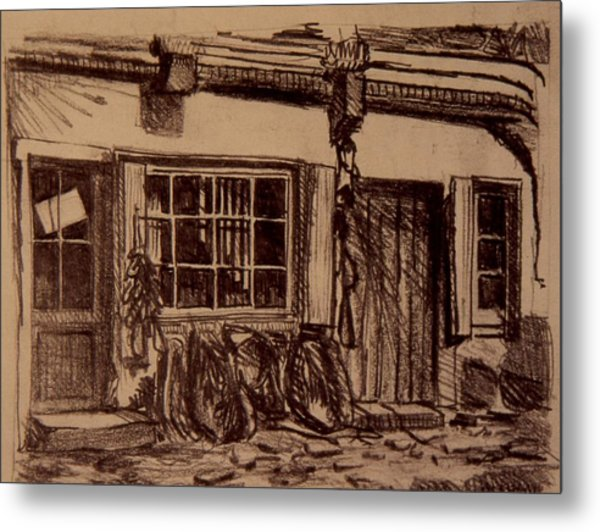 The Harness Shop Metal Print by Chris  Riley