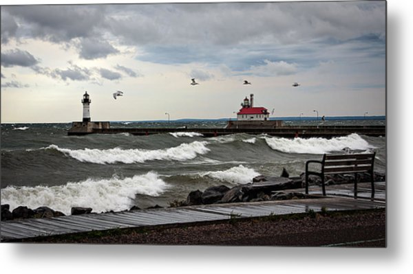 The Lights In The Storm Metal Print by David Wynia