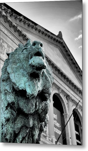The Lion-arted Metal Print