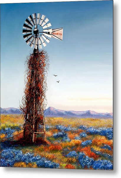The Lonely Windmill Metal Print