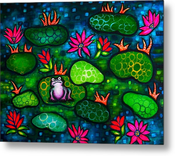 The Lonesome Frog Metal Print by Brenda Higginson
