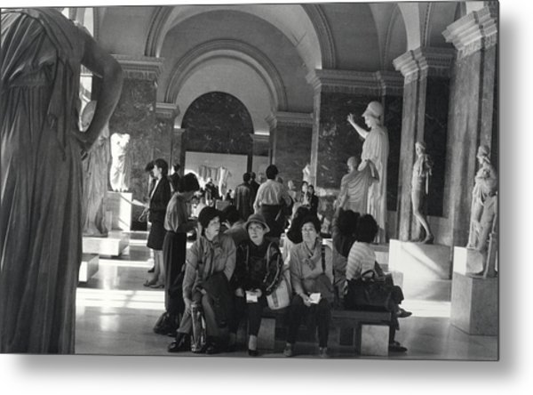 The Louvre Metal Print by Andrea Simon