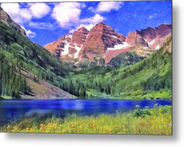 The Maroon Bells Metal Print