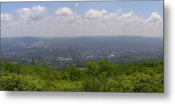 The Mountains Top View Panorama Xii Metal Print by Daniel Henning