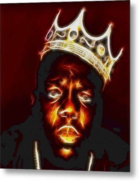 The Notorious B.i.g. - Biggie Smalls Metal Print