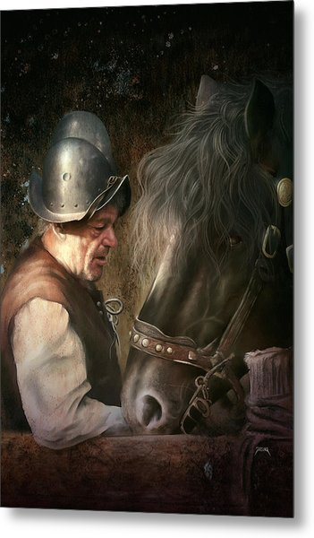 The Old Man And His Trusty Friend Metal Print