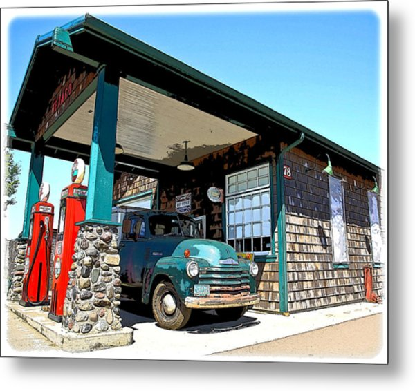 The Old Texaco Station Metal Print