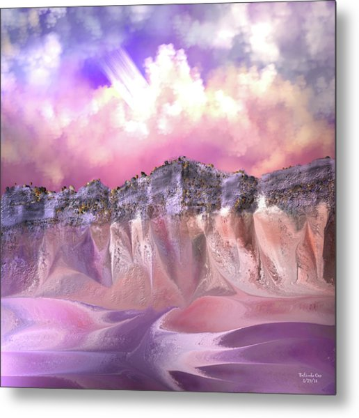The Painted Sand Rocks Metal Print