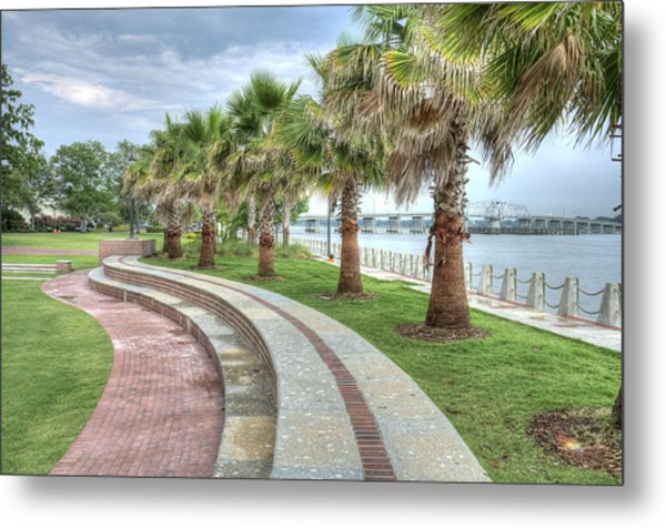 The Palms Of Water Front Park Metal Print