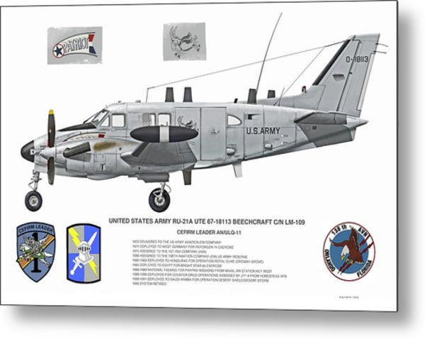 The Patriot Profile Metal Print