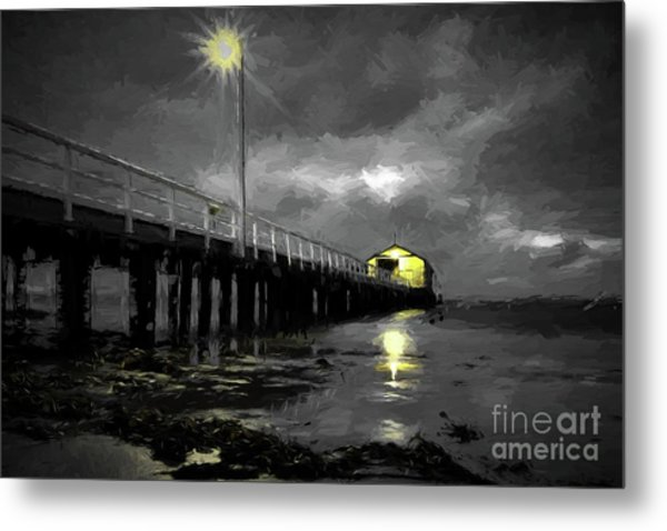 The Pier On The Bay Metal Print