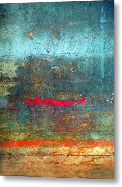 The Red Line Metal Print