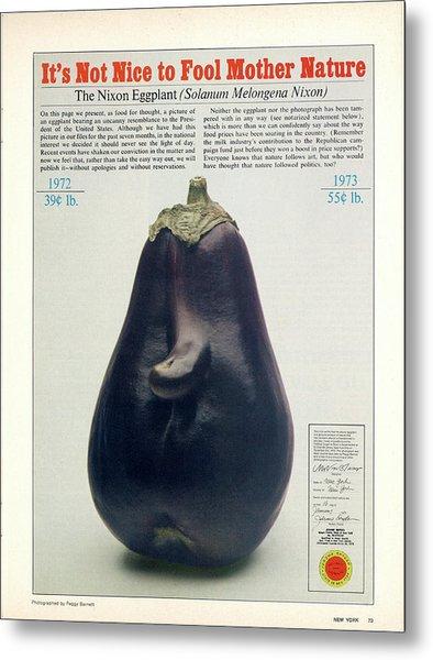 The Richard Nixon Eggplant Metal Print