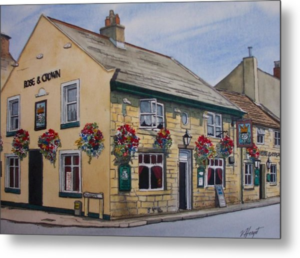 The Rose And Crown Otley Yorkshire Metal Print by Victoria Heryet