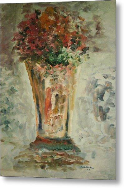 The Ruffled Stem Vase Metal Print by Edward Wolverton
