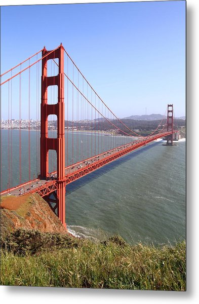 The San Francisco Golden Gate Bridge . 7d14504 Metal Print by Wingsdomain Art and Photography