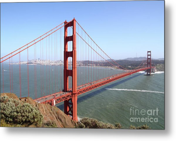 The San Francisco Golden Gate Bridge 7d14507 Metal Print