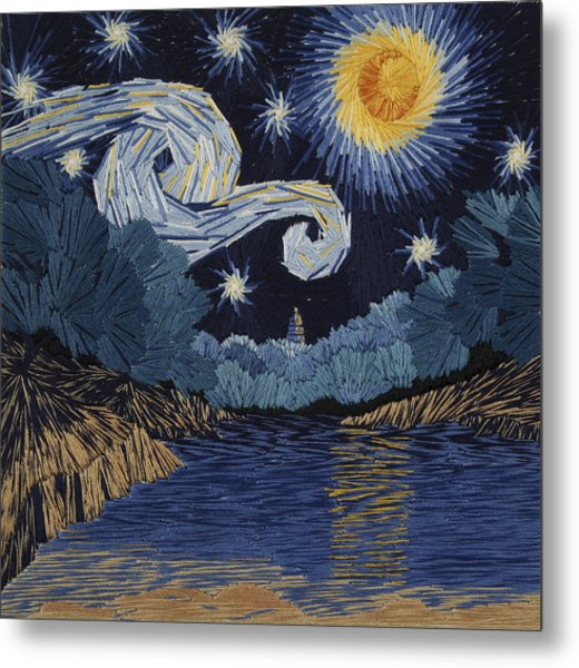 The Starry Night At Barton Springs Metal Print by Barbara Lugge