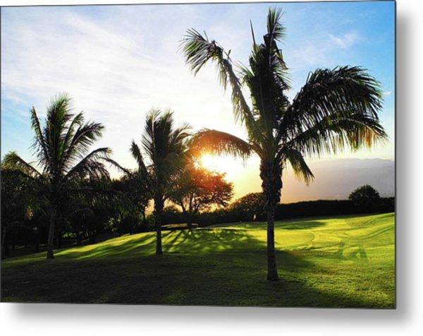 The Sun Rising Behind Haleakala Metal Print