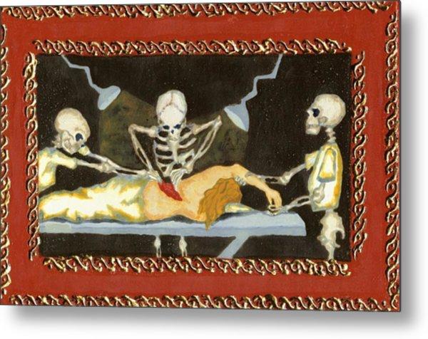 The Surgeon's Rape Metal Print by Cathy Germay