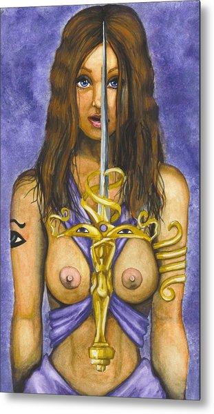 The Sword Of Magic Metal Print by Scarlett Royal