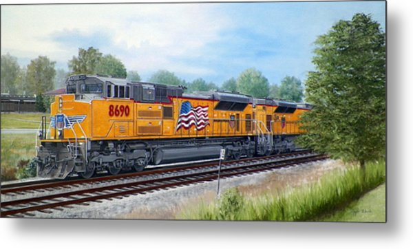 The Up 8690 Metal Print