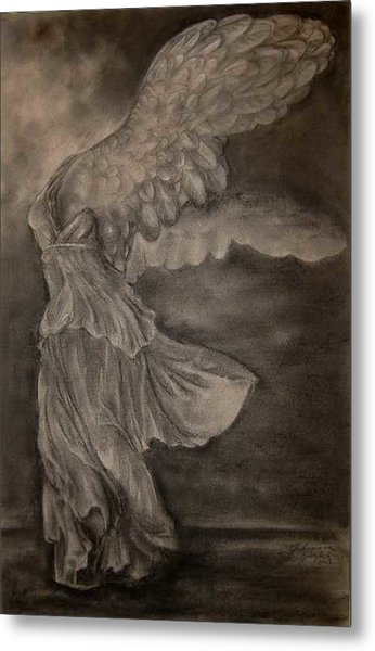 The Victory Of Samothrace Metal Print by Julianna Ziegler