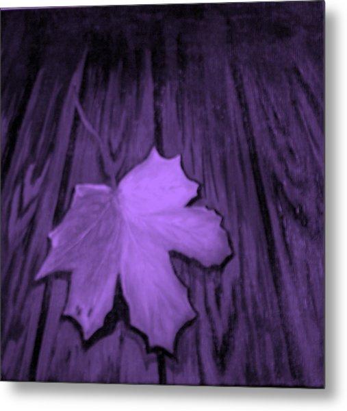 The Violet Leaf Metal Print by Ninna