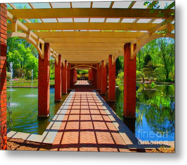 The Walkway Metal Print by Judy  Waller