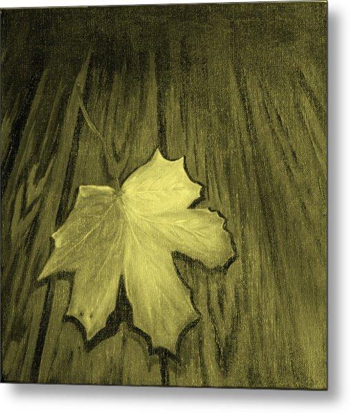 The Yellow Leaf Metal Print by Ninna