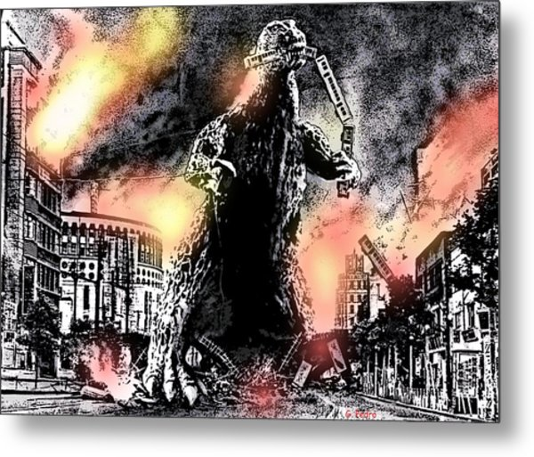 There Goes Tokyo Metal Print