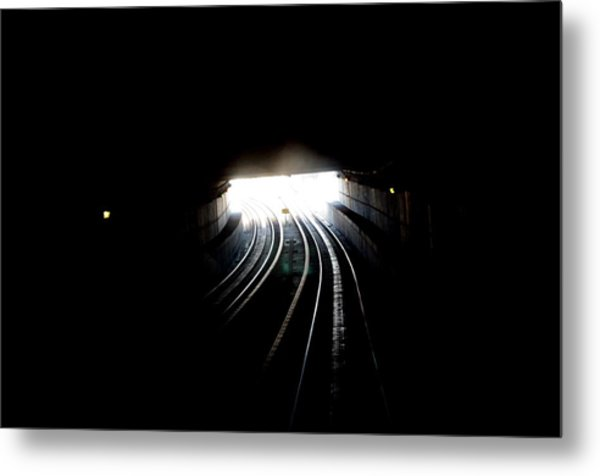 Therz Always Light At The End Of The Tunnel Metal Print by Sateesh Challa