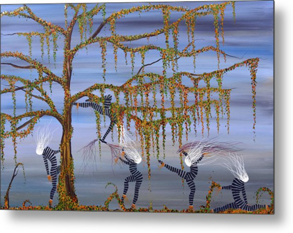 They Danced As Though Her Life Depended On It. Metal Print