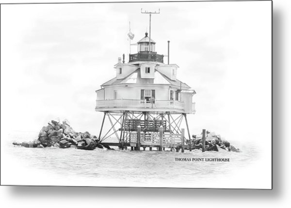 Thomas Point Lighthouse Metal Print